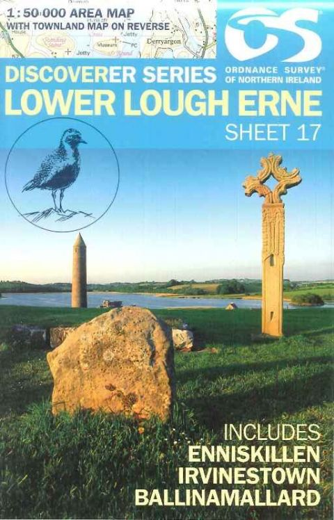 Ordnance Survey Map - No:17 Lower Lough Erne, 1:50000 Scale